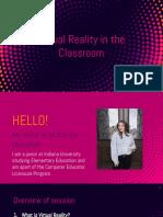 w310 virtual reality professional development