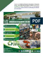 Vii Congreso Residuos Solidos en El Peru 2018