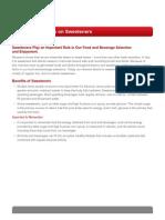 Sweetener Fact Sheet