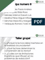 Taller Grupal ( Grupo # 8) Humanidades- 21-08-2019- Paula Andrea Garay Reales
