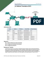 9.2.3.7 Lab - Configuring Port Address Translation (PAT)TAREA.docx