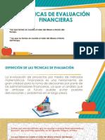 Tecnicas de Evaluación Financieras