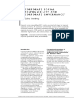 CORPORATE SOCIAL RESPONSIBILITY AND CORPORATE GOVERNANCE1