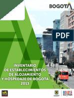 INVENTARIO DE ESTABLECIMIENTOS DE ALOJAMIENTO Y HOSPEDAJE DE BOGOTA 2013