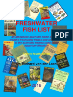 The fresh water fish list 2018