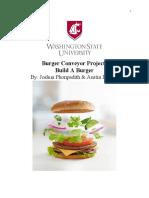 burger conveyor project report