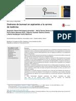 DOMÍNGUEZ, A. y Otros (2016), Sindrome de Burnout en Estudiantes de La Carrera de Medicina