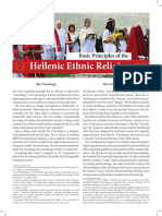 Basic Principles of the Hellenic Ethnic Religion