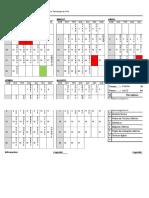 Plano 2017-1 Horário de Aula