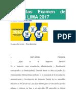 Preguntas Examen de SAT de LIMA 2017