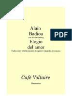 29849465 Alain Badiou Elogio Del Amor