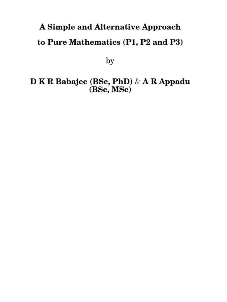 Maths P1p2p3 Book Final 1 Quadratic Equation