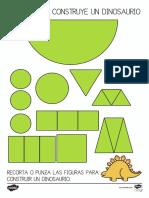 Ficha de Actividad - Construir Un Dinosaurio Con Figuras en 2D