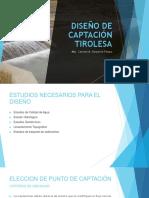 CAPTACIONES - DISEÑO TIROLESA
