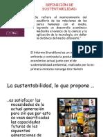 1.1 Concepto de Sustentabilidad