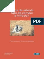 Tasas de Interes Cambio Inflacion 1