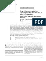 Carga Del Enfermar Psíquico, Barreras y Brechas en La Atención de Salud Mental en Chile (1)