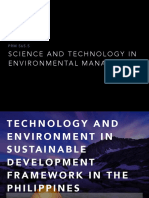 Technology and Environment in Sustainable Devpt Framework in Phil
