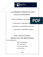 Cuadernillo de Historia.