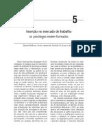 Cap5. Inserção No Mercado de Trabalho Os Psicólogos Recém Formados in Livro O-trabalho-do-psicologo-no-Brasil-PDF