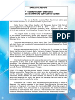1st Commencement Exercises Narrative Report With Design
