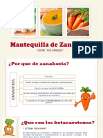 Mantequilla de Zanahoria