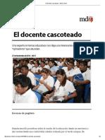 El Docente Cascoteado - MDZ Online