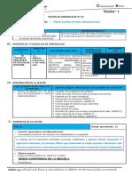 I UNIDAD - SESIÓN 1 - ORALIDAD - LA CONVERSACIÓN - 6° GRADO
