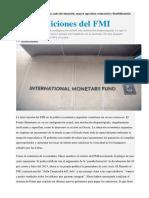 Las Condiciones Del FMI