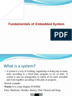 1) Fundamentals of Embedded System