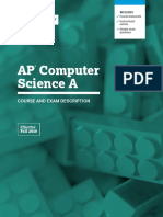 AP Computer Science a Course and Exam Description