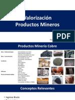 Valorización Productos Mineros