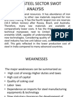 Indian Steel Sector Swot Analysis