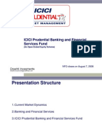 ICICI Prudential Banking and Financial Services Final presentation
