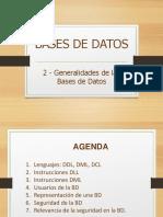 Instrucciones DDL DML DCL
