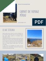 Carnet de Voyage - Septembre