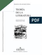 Concepto de Literatura, Aguiar e Silva