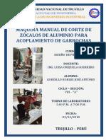 MÁQUINA MANUAL DE CORTE DE ZÓCALOS DE ALUMINIO