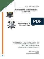 Administración y procesos de recursos humanos