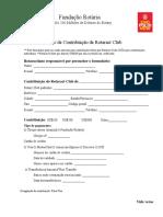 Formulário Contribuição á Fundação Rotaria