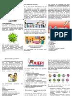 Folleto Vacunacion, Inmunoprevenibles, Enfermedades Prevalentes y Transmitidas Por Eta