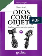 UNFV ANTROPOLOGIA  Augé, Marc - Dios como objeto.pdf