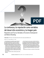 la confianza y la reputación como variables de desarrollo económico y la imagen país