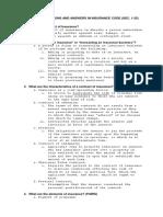 Insurance Notes (Sec 1-25)