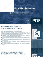 Mechanical Engineering CDR Sample