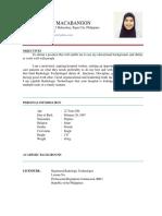 Raihana Resume