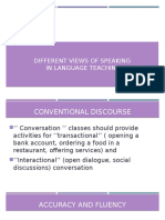 Different Views of Speaking