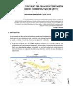 Corredor Metropolitano. Bases Oficiales