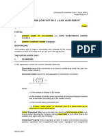 Template Convertible Loan Short Form 1
