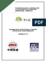 Informe Inicial de Obra Puentes y Estructuras III y IV